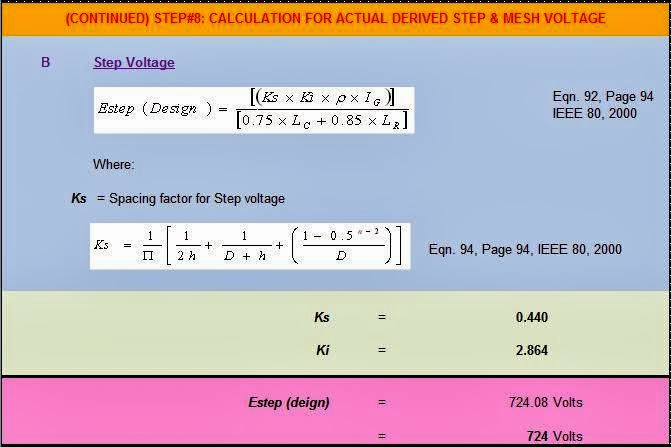 Wire size calculator xls image collections wiring table and grounding design calculations part seventeen electrical knowhow step8 calculation for actual derived step and mesh voltage keyboard keysfo Choice Image