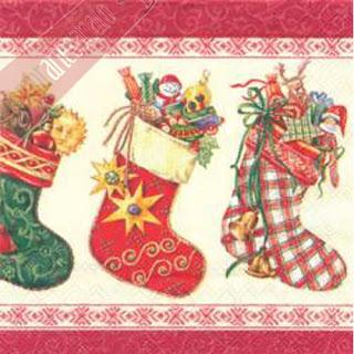 Imagens para decoupage de natal - botas natalinas