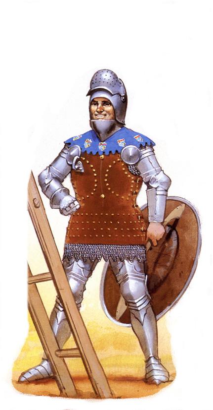 Combat avec un pavois au XVe 1410+Guichard+Dauphin