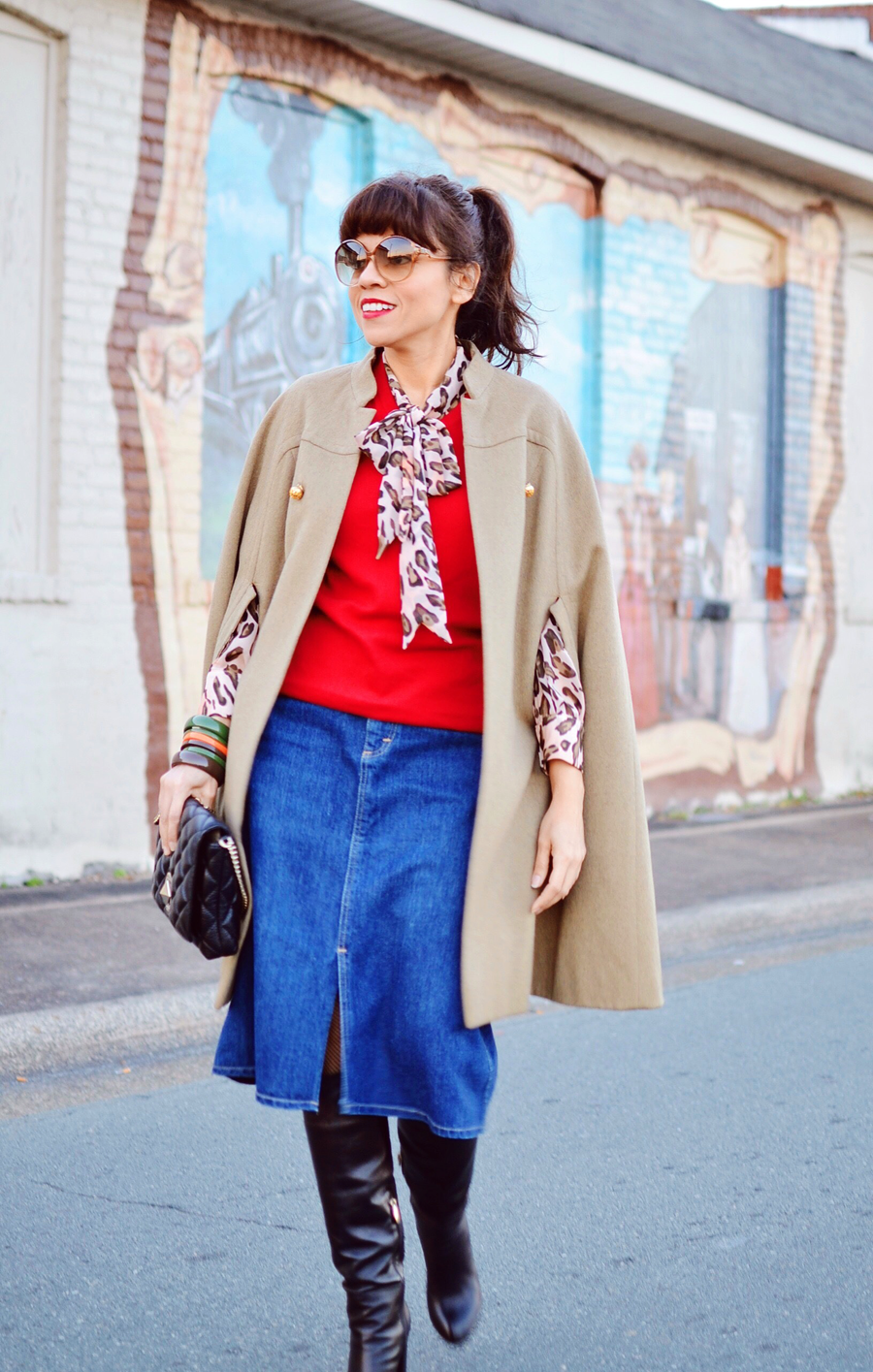 Look with a cape street style