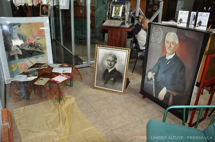 Parte de la Exposición dedicada al Patriarca de las Letras Merideñas. (Fotografía: Lander Altuve)
