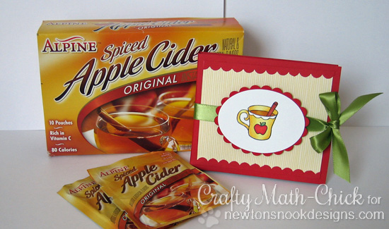 Apple Cider holder by Crafty Math-Chick for Newton's Nook Designs | Apple Delights Stamp Set