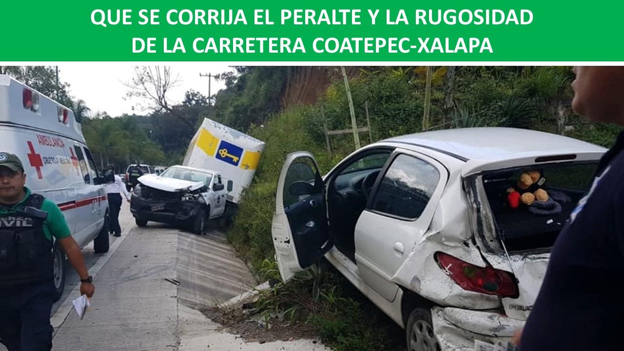 LA RUGOSIDAD DE LA CARRETERA COATEPEC-XALAPA