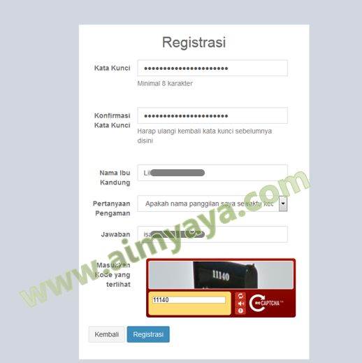 Gambar: Tahap Registrasi - Pengamanan