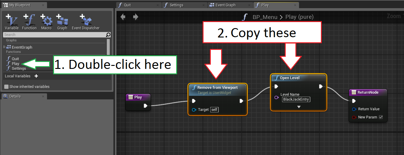 I dont know udk unreal engine 4 blender and substance designer under the my blueprint tab double click on the eventgraph to open its tab press ctrlv to paste the blueprint nodes you just copied in step 3 malvernweather Images