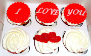 I Love You Cupcakes. Classic red velvet cupcakes with (love you cupcakes)