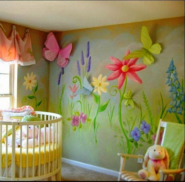 Choosing the right paint color for babys room for Baby mural ideas