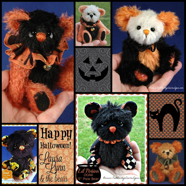 Happy Halloween from Laura Lynn and her artist teddy bears!