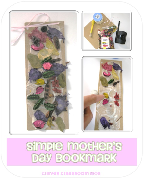 Mother S Day Bookmark Pot Pourri On Sandpaper Clever Classroom Blog