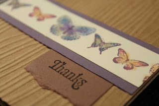 butterflies and kraft brown eggplant blue saffron green thanks by Handiworkin' Girls