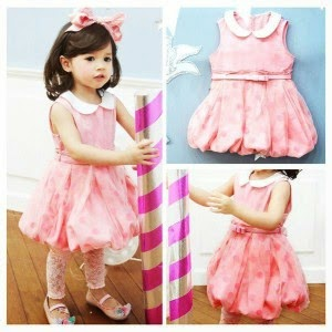 Baju Anak Cewek Korea Style Dress Lace Ballon Pink 300x300 Model Baju