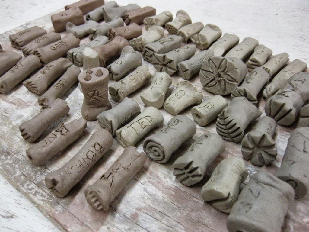 Westville Art Blog: Ceramics: Stamped Mug