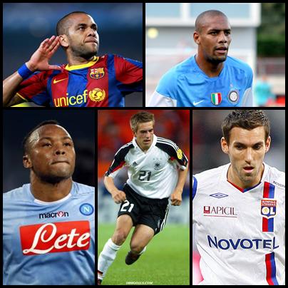 Melhores laterais direitos do Pro Evolution Soccer 2013.