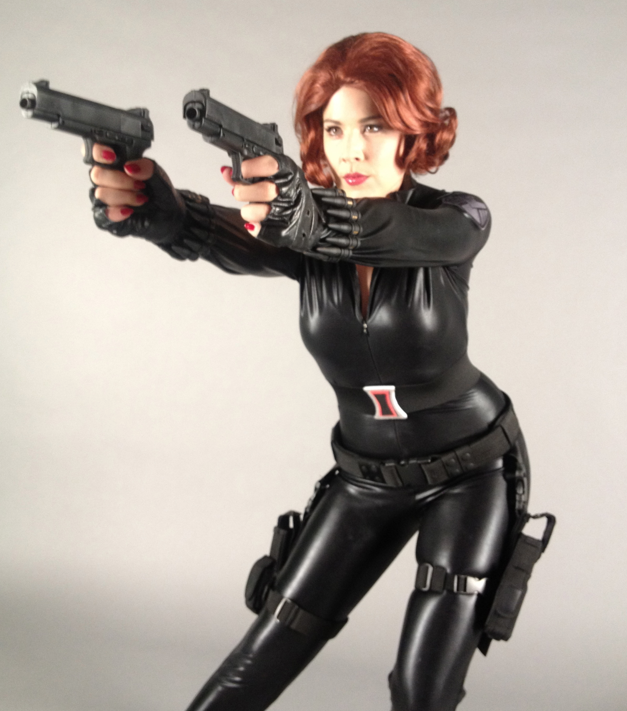 How to make a marvel black widow costume - photo#5