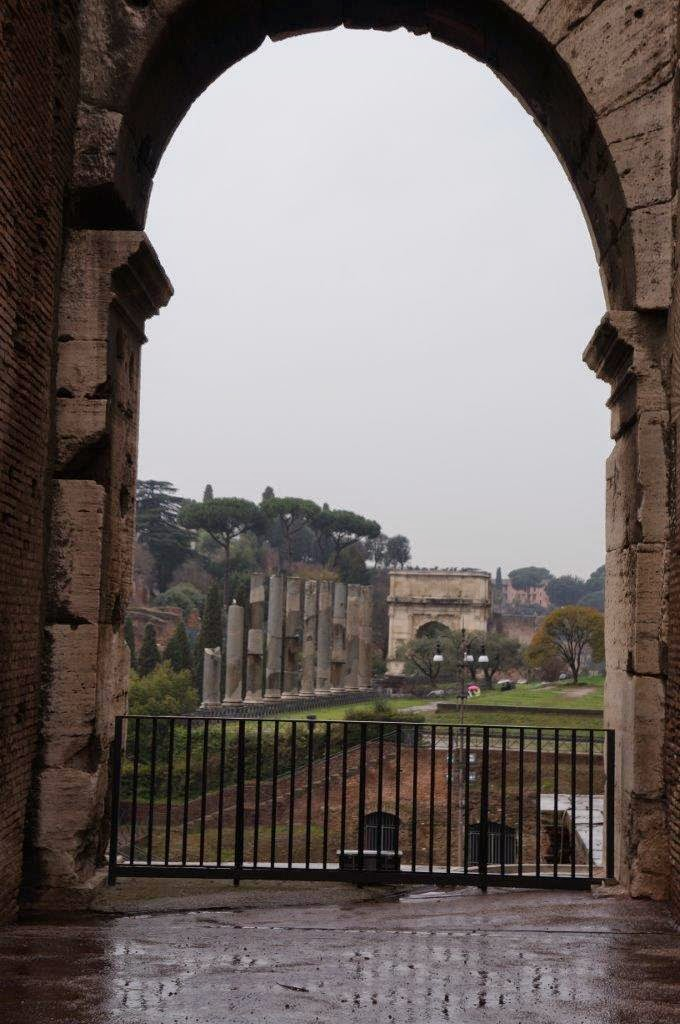 View from the Colosseum in Rome, Italy.