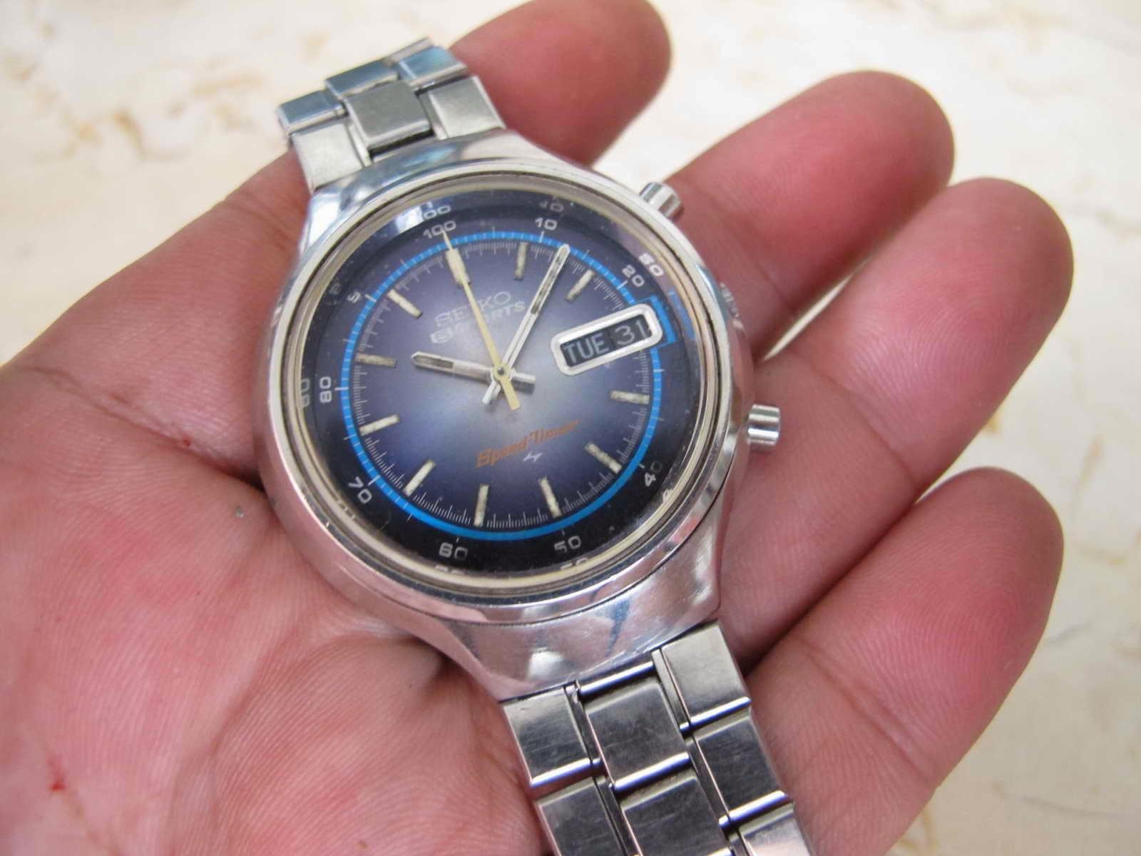 Tebal case 12 mm dan lebar lug 18 mm Kondisi Mantap SPeedtimer Cocok untuk Anda yang sedang mencari jam tangan Seiko Chronograph rare SPEEDTIMER