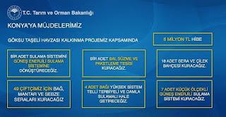 Tarım ve Orman Bakanı Pakdemirli Bozkır projelerini Açıkladı.