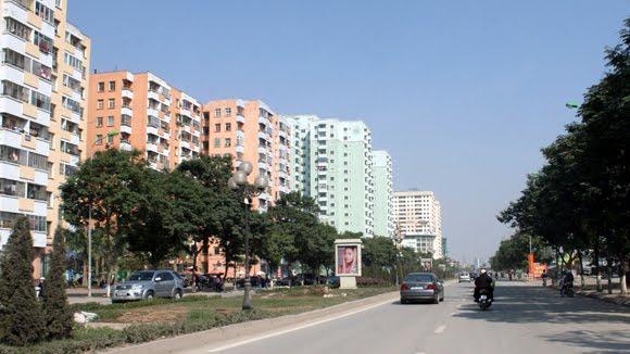 Đường Lê Văn Lương - một trong những con đường đẹp và hiện đại của Thủ đô.