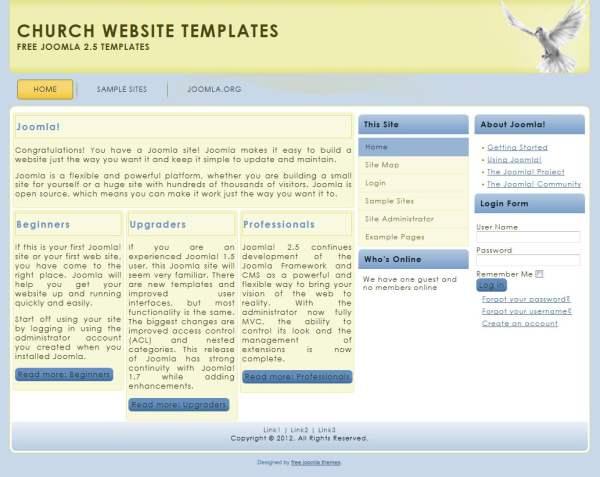 free church website templates - theme joomla 2 5 templates joomla 1 7 templates free