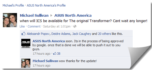 TF101 ICS Update FB ASUS