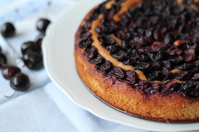 lavender star - #svetlanakocht - rezept für gesunden kirschkuchen mit jogurt - clean eating - saisonales kochen backen - sommerrezept