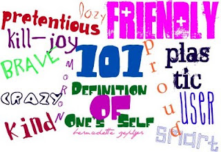 101 list, attitude, definition of one's self, friends