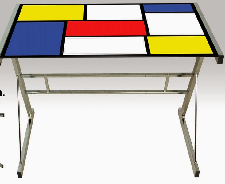 mesa acero y cristal, mesa escritorio pequeña