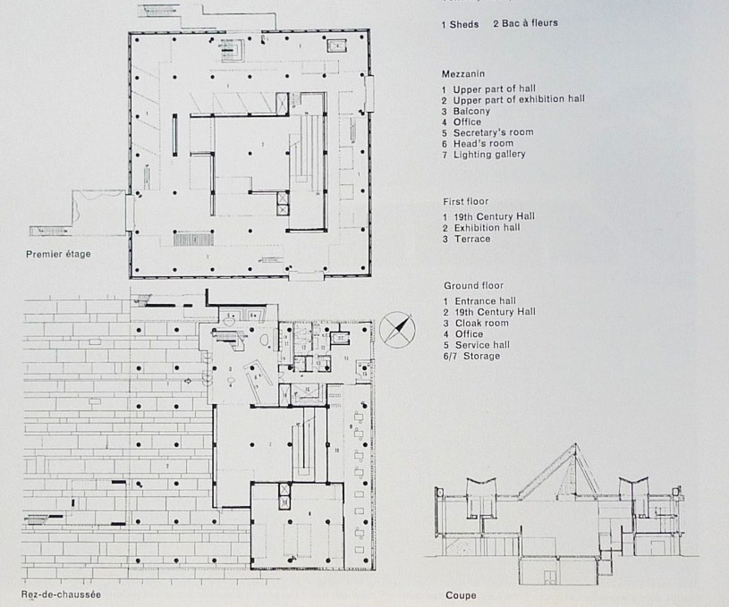 Western art le corbusier and art museum on pinterest for Western floor plans
