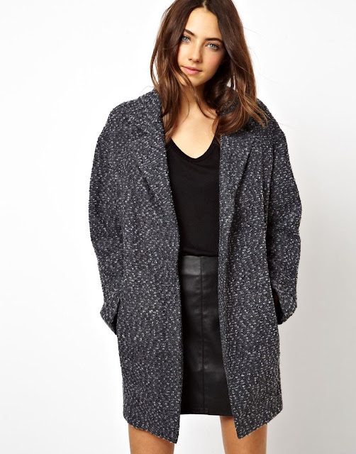 ovoid coat, grey coatigan