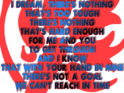 Dream A Dream - Christina Aguilera Song Lyric Quote in Text Image