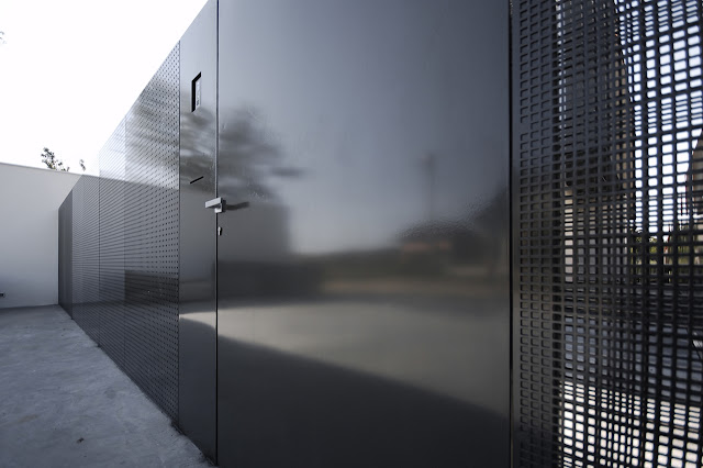 Black modern street fence