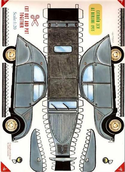 o mundo colorido  carros de papel para recortar e montar