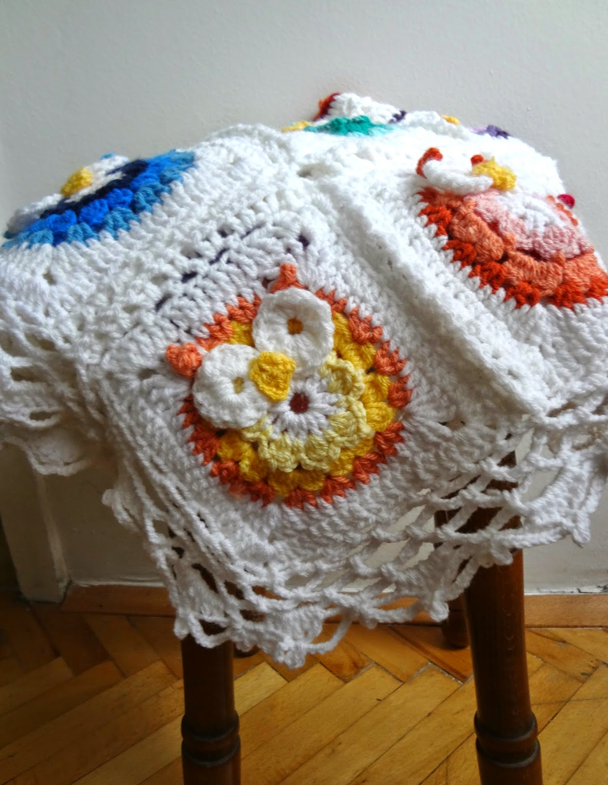 Free Crochet Pattern For Owl Afghan : Little Treasures: Crochet Owl Blanket Pattern