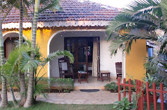 the lovely bungalow on Baga Beach