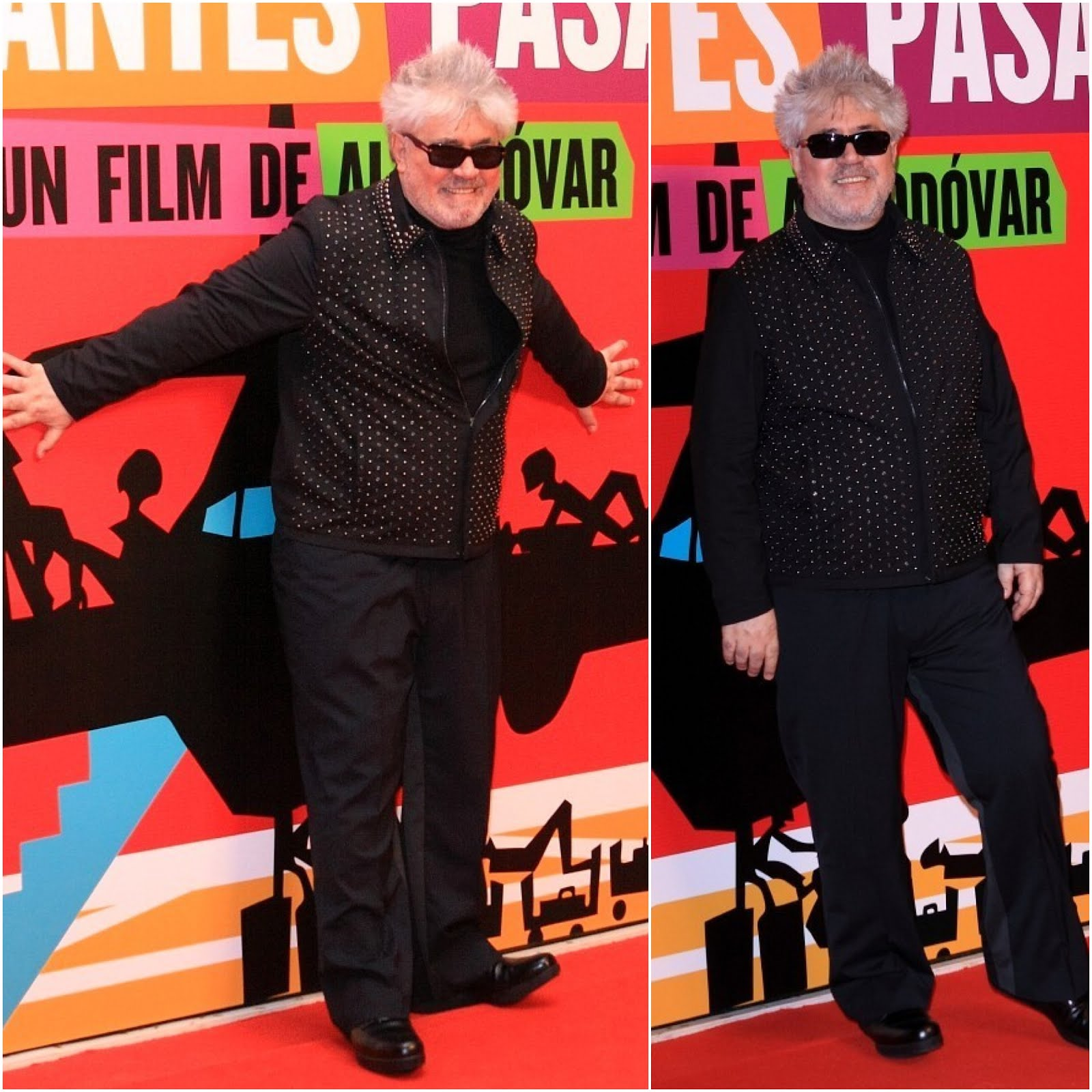 00O00 Menswear Blog Pedro Almodovar in Prada - 'Los Amantes Pasajeros' premiere, Madrid March 2013