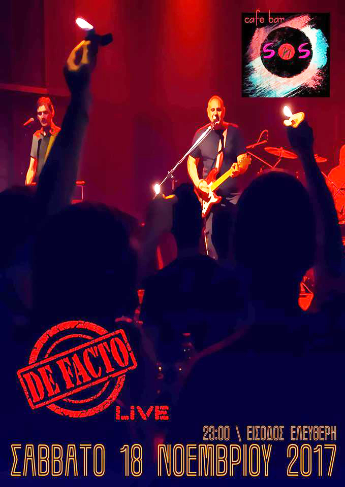 De Facto Live στο S'n S, Άγιος Νικόλαος 18-11-17