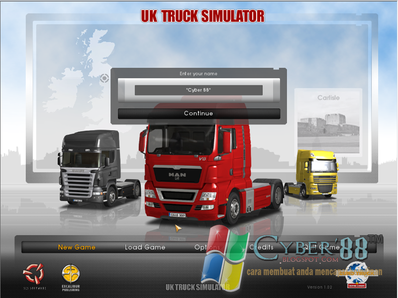 Euro Truck Simulator 1.32 (UKTS) Full Version PC