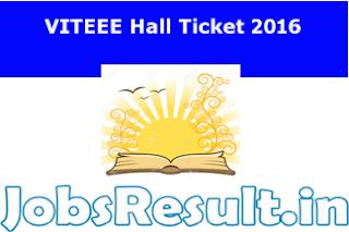 VITEEE Hall Ticket 2016
