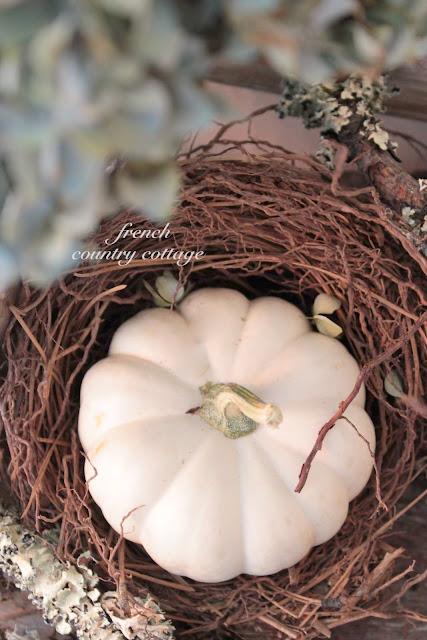 White pumpkin nest