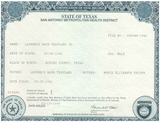 Contemporary Get Texas Birth Certificate Image Collection - Online ...
