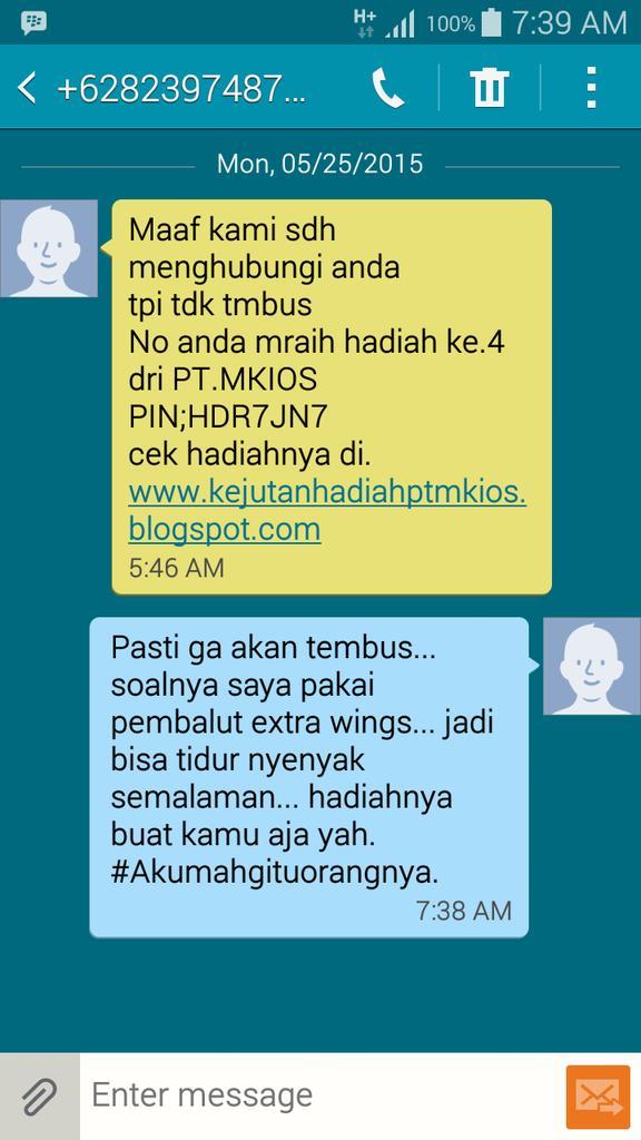 SMS LUCU 11