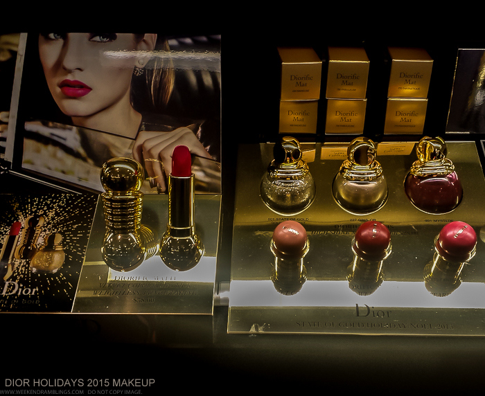 Dior Holidays 2015 Makeup Collections - Diorific State of Gold - Swatches