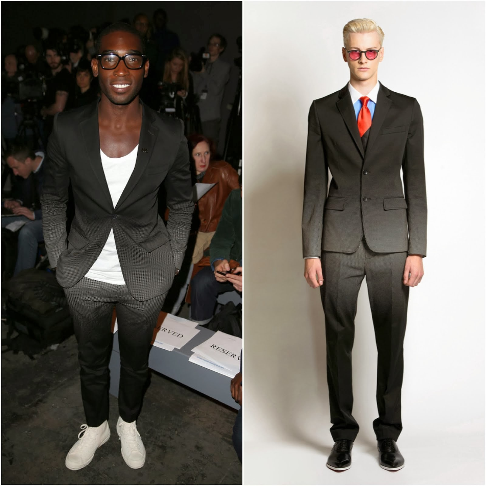 Tinie Tempah in Jonathan Saunders - London Collections: Men Autumn/Winter 2014 Day 1