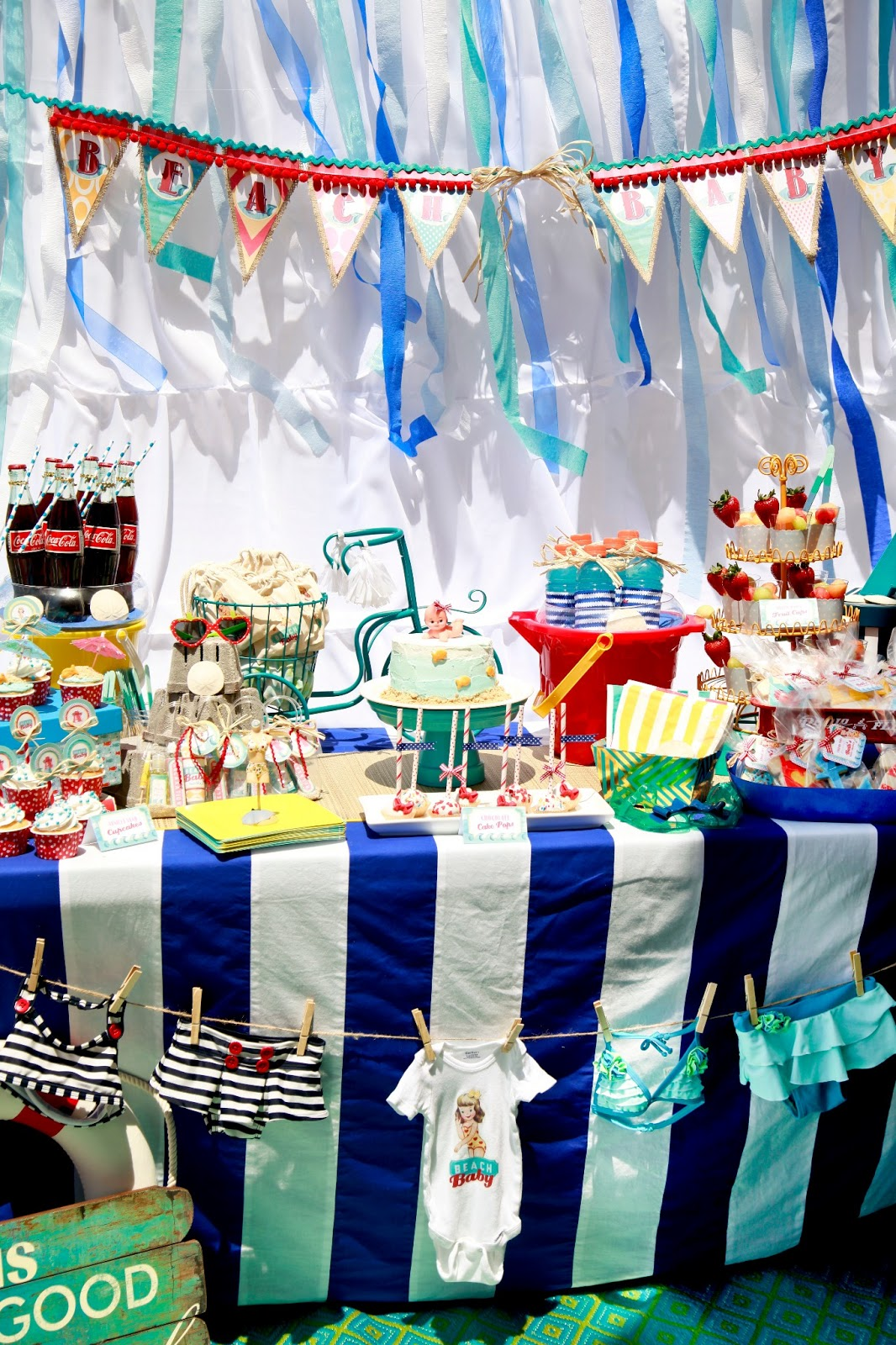 miss party mom vintage beach baby shower hermosa beach ca