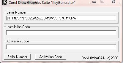 corel x4 keygen activation code