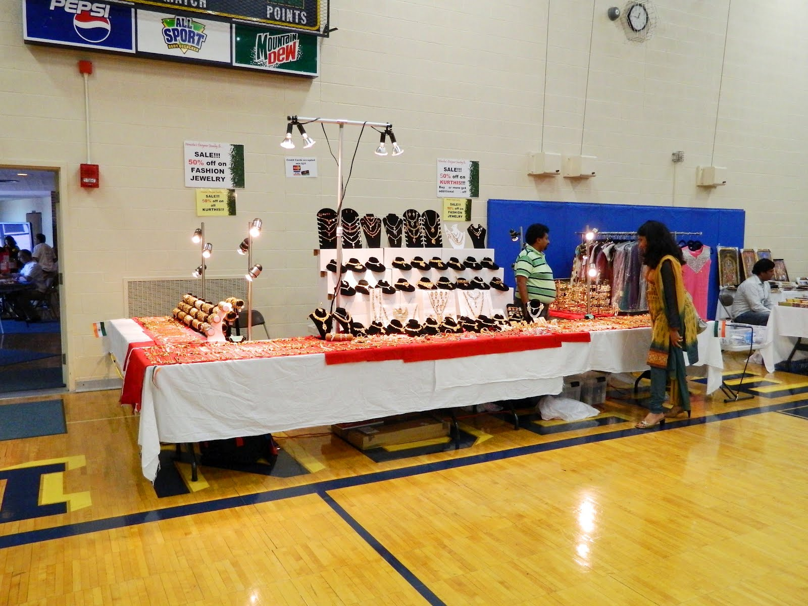 Jewelry Vendor Table Set Up