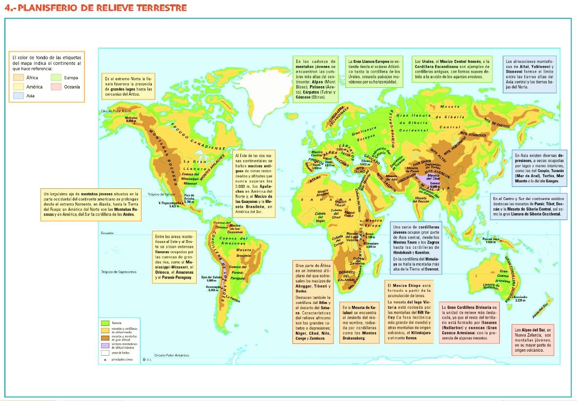 Geograf a relieve continental y marino - Fotos de relieve ...