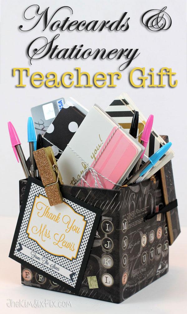 Personalized Stationery Set Teacher Gift - The Kim Six Fix