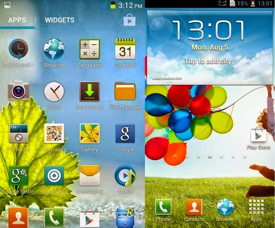 Custom ROM ADVAN S5E - Samsung Galaxy S4