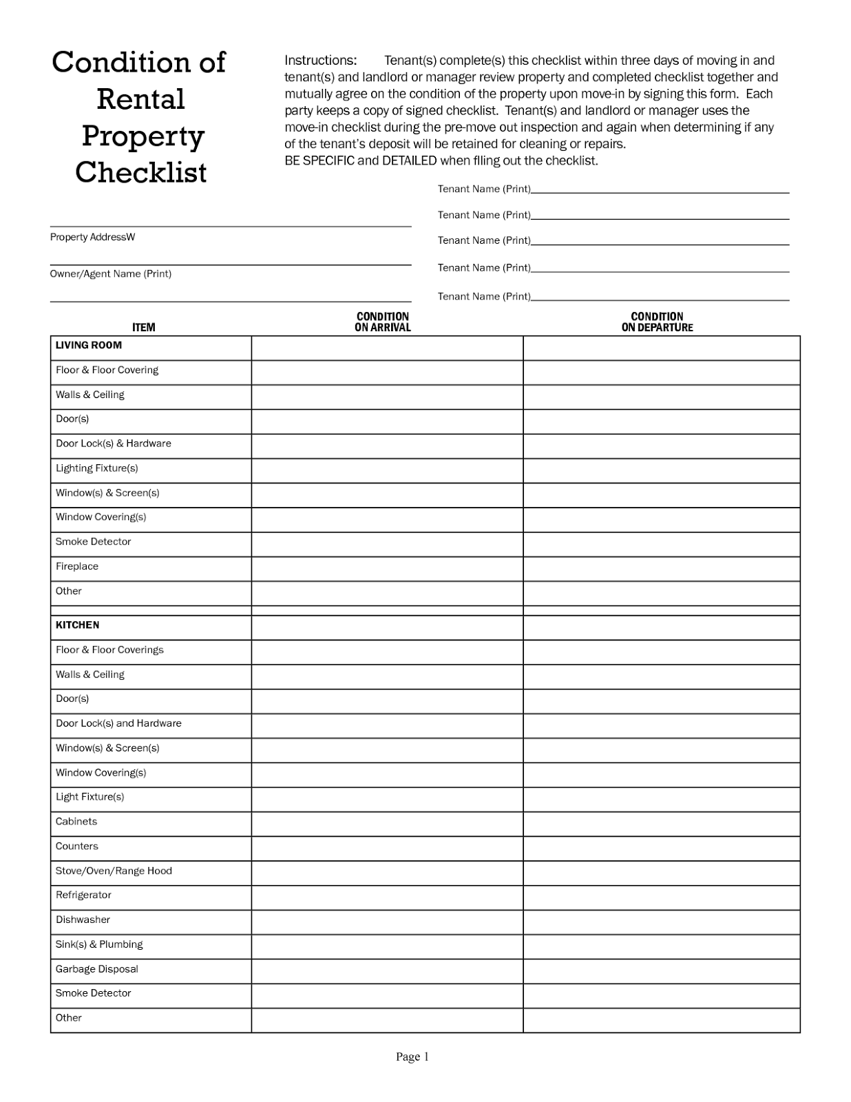 Work Resumedownload checklist template free wedding checklist – Free Landlord Inventory Template